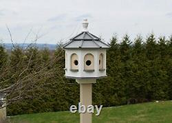 Large Gazebo Birdhouse Poly Amish Homemade Poly. Planter and Post not Included