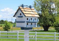 Large Martin Birdhouse Amish Handmade Post not included 14 Holes