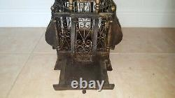 Large Vintage Victorian Style Wood and Wire Balloon Globe Sphere Bird Cage 27.5