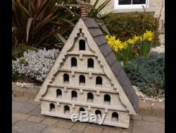 Large Wooden Bird House, Rustic Garden Dovecote with 15 Windows And Perches NEW
