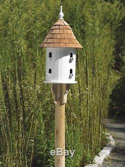 Lazy Hill Farm Designs 41401 Bird House White Solid Cellular Vinyl with Natural