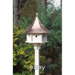 Lazy Hill Farm Designs Carousel Bird House withPolished Copper Roof 42406 NEW