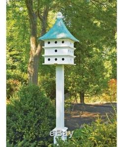 Lazy Hill Farm Ultimate Purple Martin House 24 Room PLUS Lazy Hill Mounting Post