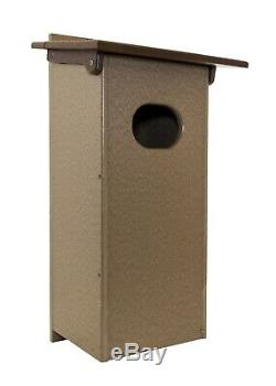 NEW! Amish-made Wood Duck Box Weatherproof Poly Post Mount 12x 11x 24