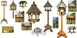 NEW Tom Chambers Solid Wood Garden Dovecote & Bird Tables Houses Slate Roof