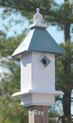 NEW Wing and A Prayer Classic Bluebird House Verdigris Roof