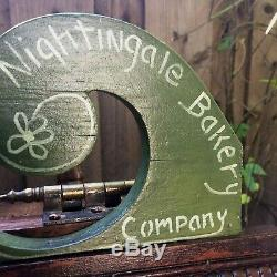 Nightingale Bakery Beautiful Hand Crafted and Painted Original Birdhouse