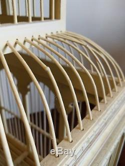 Old Wood-wooden Large Domed Art Bird Cage Cird House