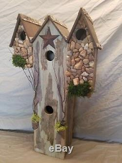 Old pallet Wood Unique Hand Made Birdhouse