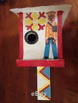 Original James Harold Jennings folk art painted bird house