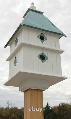 PLANTATION BIRD HOUSE WITH VERDIGRIS ROOF by A WING & A PRAYER