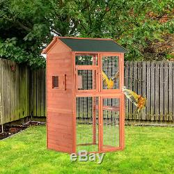 PawHut 71 Wood Bird Cage Large Parrot Finch Macaw Cockatoo Pet Supply House