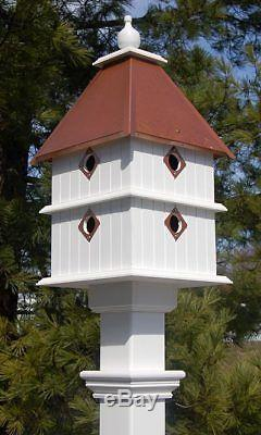 Plantation Bird House With Hammered Copper Roof