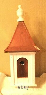 Polished Copper Roof Birdhouse