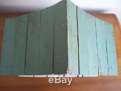 Primitive Rustic Primitive Wood Birdhouse Three story house antique white green