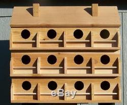 Purple Martin Bird House With 12 Compartments Western Red Cedar. Birds Free S/h