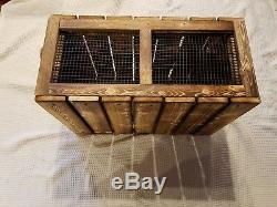 QUAIL. Pigeon. 2 cages. Dog Training. 4 transferring Birds/MADE IN U. S. A. BY VET'S
