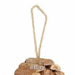 Relaxdays Mini Bird House for Hanging Untreated Wood for Balconies and Terrac
