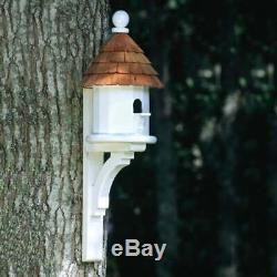 Small Cedar Shingled Bird House White Standard
