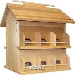 Starling Resistant 12 Room Martin House with Solid Redwood Construction & Floors