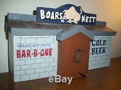 Super Rare 1-of-a-kind Solid Wood Dukes Of Hazzard Boars Nest Large Bird House