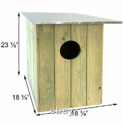 TAWNY OR BARRED OWL HOUSE by ESSCHERT DESIGN