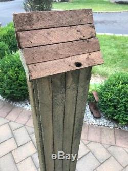 Tall Country Wood 5 Tier Large Bird Feeder Country Storage Shelf Cabinet