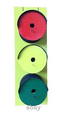 Traffic Light- Bird House in Pine-Amish Made in USA