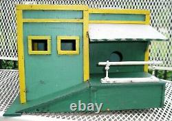 Vintage Hand Made Wood Gas Station or Service Garage Bird House A Cool Project