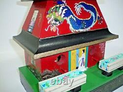 Vintage Hand Painted and Signed Birdhouse Asian Pagoda Birdhouse, Home Décor