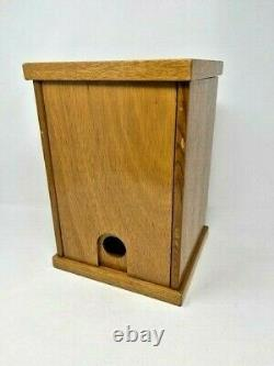 Vintage Handmade Bird Breeding Nesting Box Lacquered Wood With Viewing Door