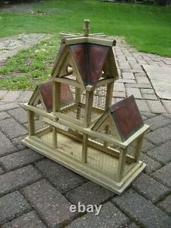 Vintage, Large Victorian Copper Roof Bird House / Cage / Home Decor, Free Ship