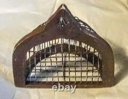 Vtg Decorative Wooden & Metal Wall Mounted Bird Cage