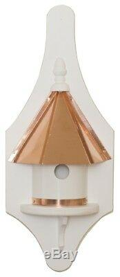 ½ WALL MOUNT BIRDHOUSE Copper Roof & Trim Vinyl Bird House USA AMISH HANDMADE