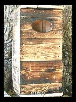 WOOD DUCK, House. NESTING. Box. Ohio hard pine. U. S. A. BY. M. HOLLEY. BUILT in U. S. A