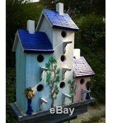Wilderness Series Products Birdhouse Wood NEW Bird House 6 Holes Wooden Large s