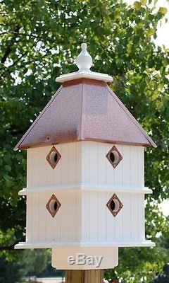 Wing & A Prayer Plantation House Stylish Hammered Copper Roof Songbird Lovers
