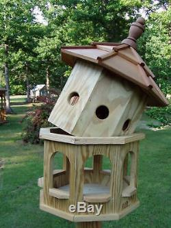 Wood Birdhouse Amish Homemade Handmade Handcrafted Md