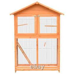 Wooden Bird House Cage Solid Pine and Fir Wood 120x60x168 cm Outdoor Aviary