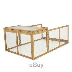 Wooden Outdoor Cage Coop Poultry House Farm Chicken Rooster Bird Hen