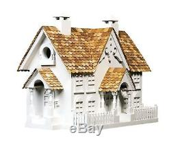 Wrension Birdhouse Pine Shingled Roof Pet Home Shelter Outdoor Pet Nature Decor